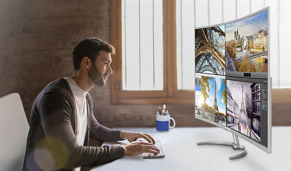 Philips presenta el monitor 4K curvo mas grande del mercado