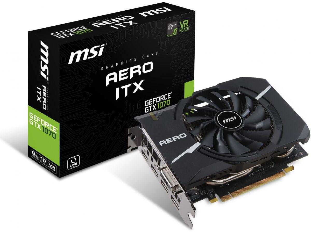 MSI lanza su nueva línea GeForce GTX 10 AERO ITX