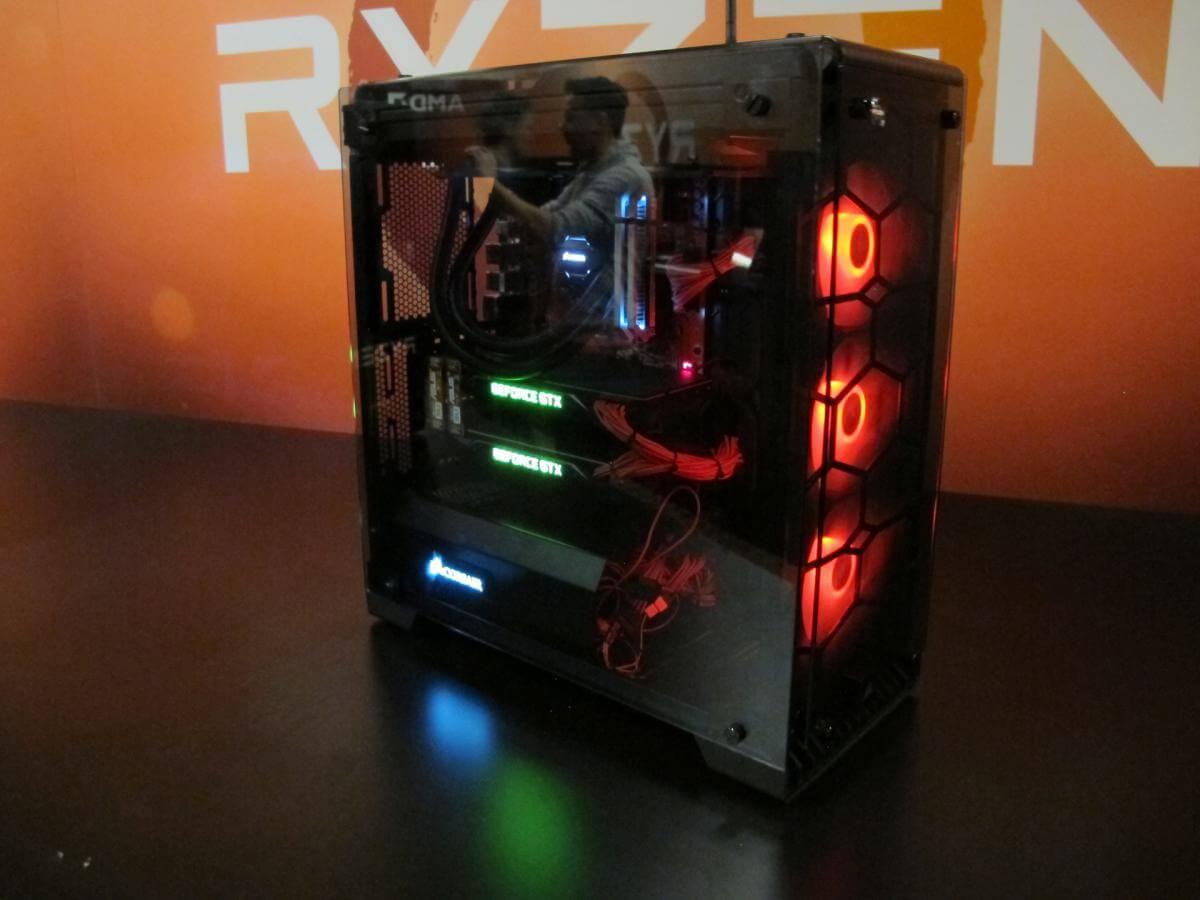 Nuevas fotos de equipos con Ryzen y SLI de Nvidia
