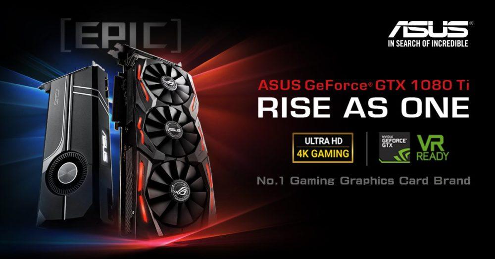 Asus enseña sus buques insignia ROG STRIX GeForce GTX 1080 TI & GTX 1080 TI TURBO