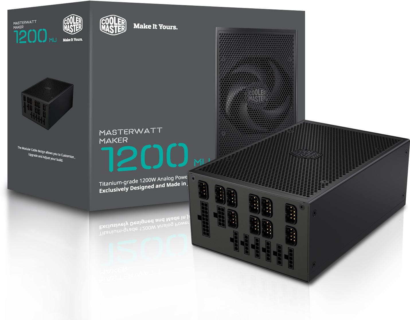 Cooler Master anuncia la fuente de alimentación MasterWatt Maker 1200 MIJ