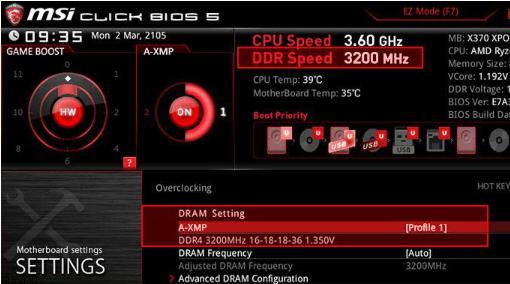 Msi permite A-XMP para mejorar RYZEN DDR4