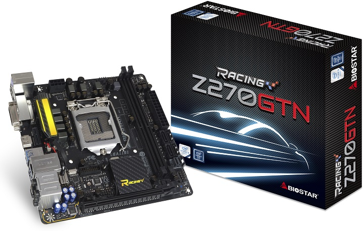 Biostar lanza placas base de la serie B250 Mini-ITX Racing