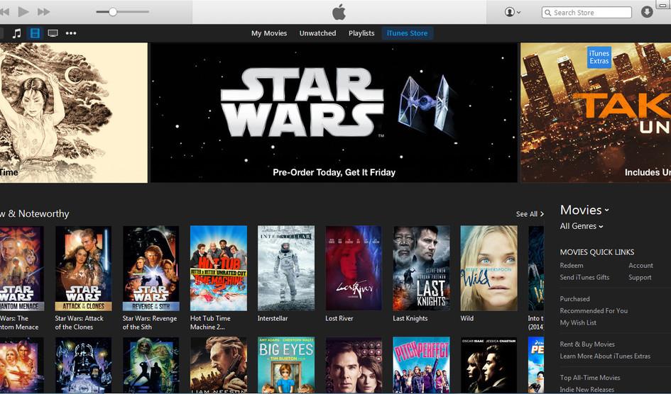 La plataforma de alquiler de películas de Itunes ya funciona en multidispositivos