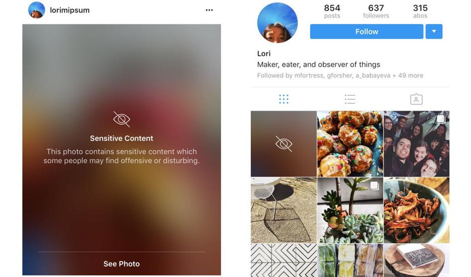 """Instagram difuminará todas las fotos """"sensibles"""" por defecto"""