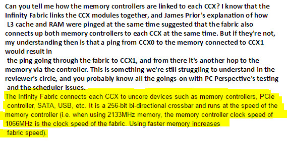 AMD Ryzen Infinity se acoplan a la velocidad de la memoria