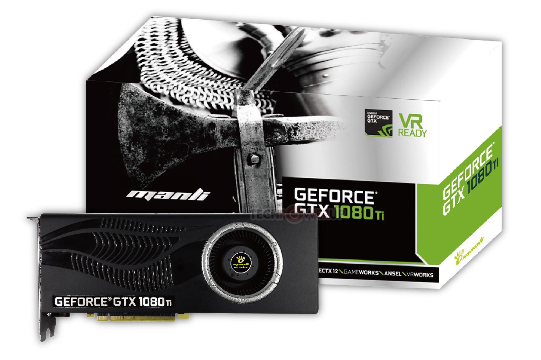 Manli anuncia su tarjeta gráfica GeForce GTX 1080 Ti