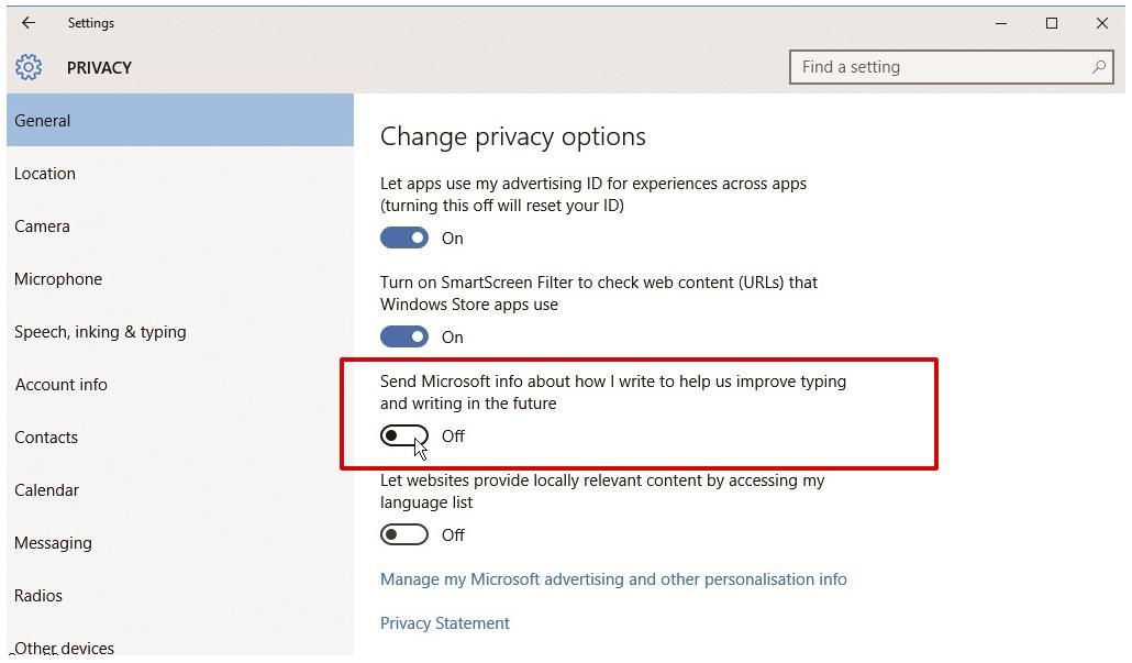 Microsoft habilita una característica de Windows 10 que actúa como un key-logger