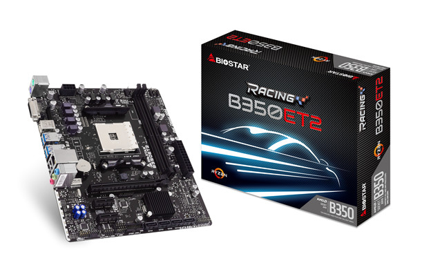 BIOSTAR anuncia las placas base RACING B350GT3, RACING B350ET2 AM4