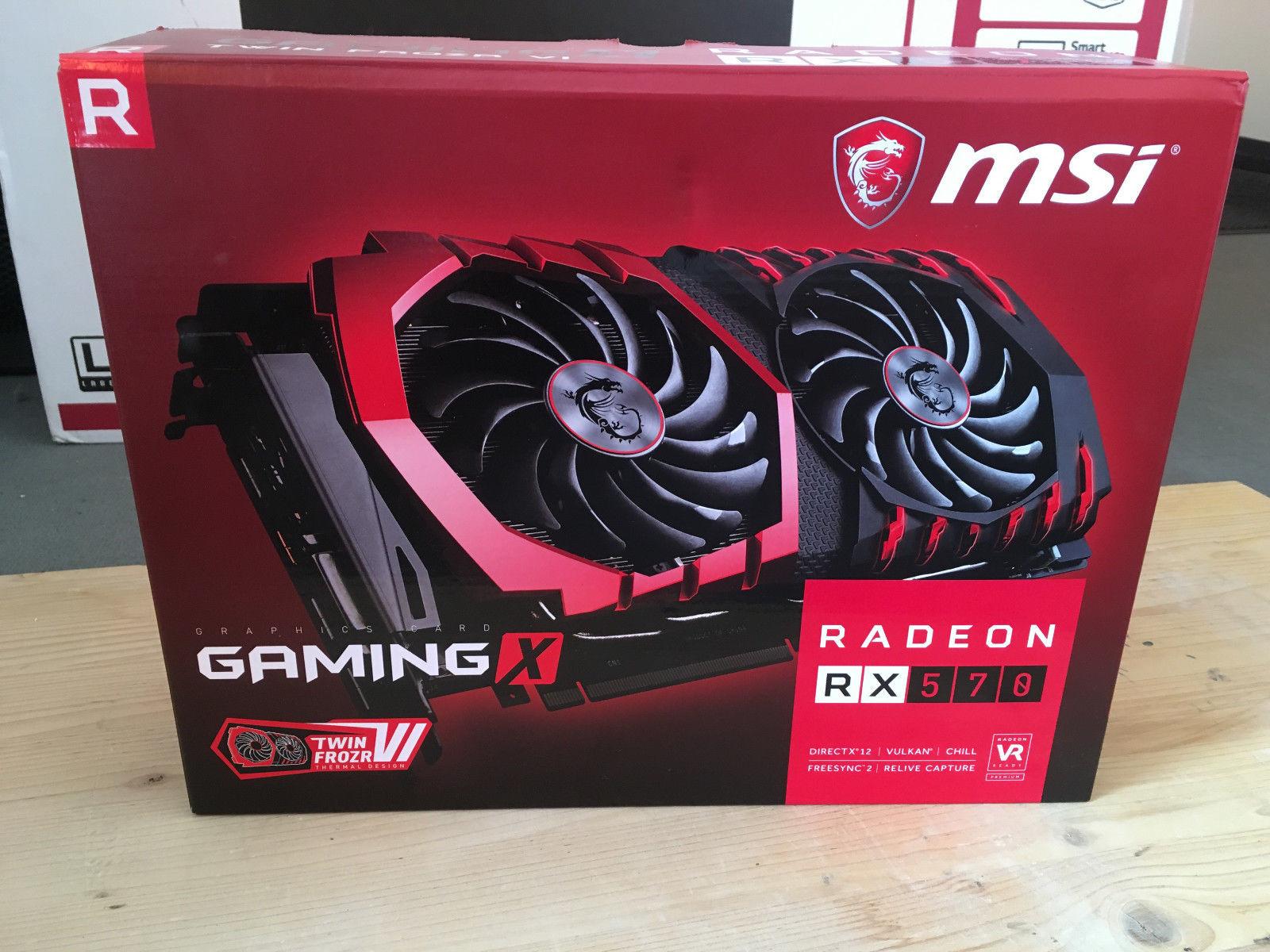 MSI Radeon RX 570 Gaming X al descubierto