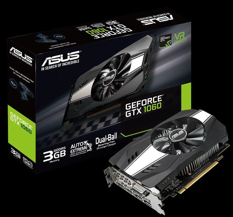 Asus presenta su nueva GeForce GTX 1060 de 3GB Phoenix