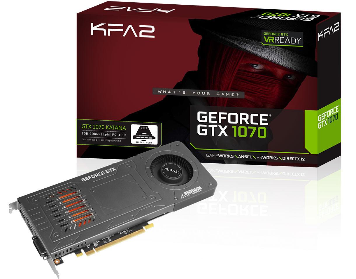 KFA2 lanza su nueva GeForce GTX 1070 Katana de un solo slot