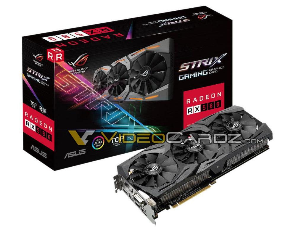 La flamante ASUS ROG STRIX Radeon RX 580 se deja ver