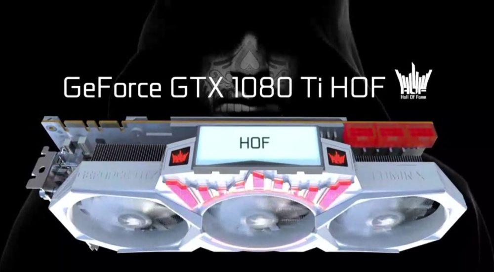 La flamante GALAX GeForce GTX 1080 Ti HOF también contará con panel LCD