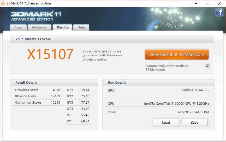 Titan Xp OC 3D Mark
