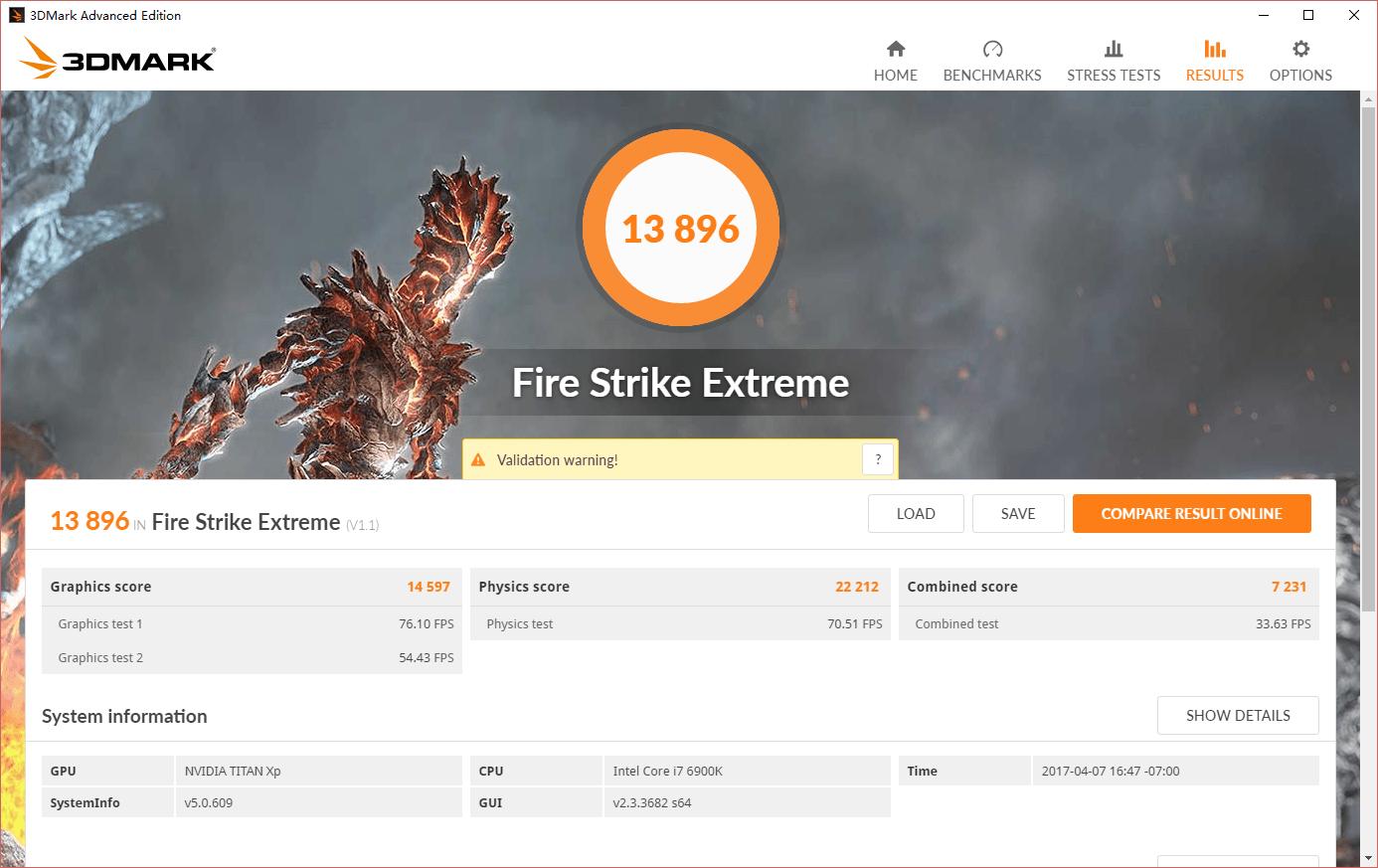 Titan XP Fire Strike Extreme