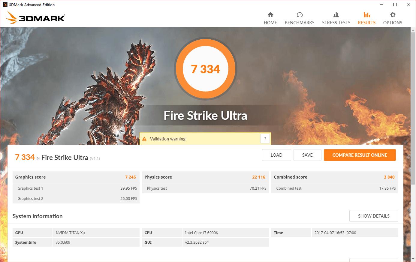 Titan XP Fire Strike Ultra