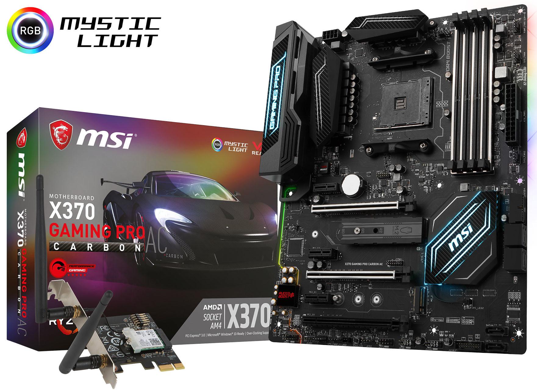 MSI presenta la placa base X370 Gaming Pro Carbon AC