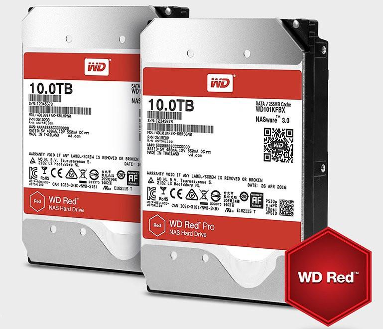 Western Digital anuncia sus nuevos HDDs Red y Red Pro de 10 TB