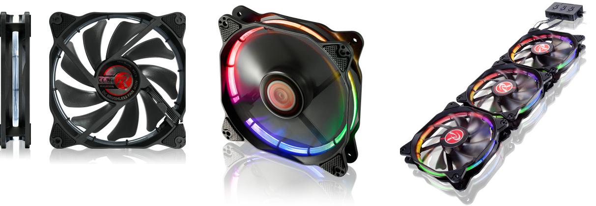 Raijintek enseña sus nuevos ventiladores Aura 12 RGB