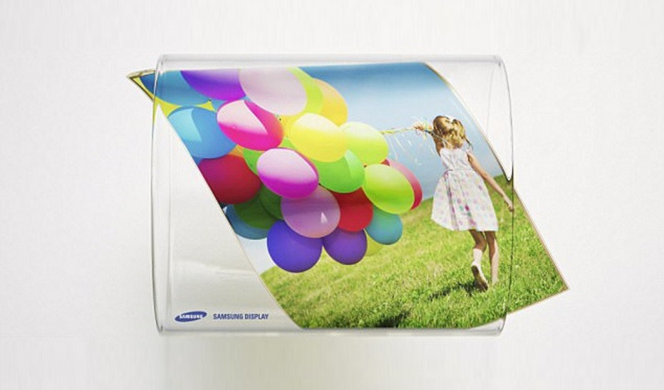 Samsung muestra su primer panel OLED flexible y extensible