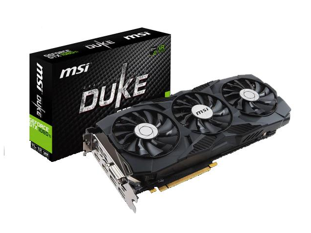 MSI presenta la GeForce GTX 1080 Ti DUKE