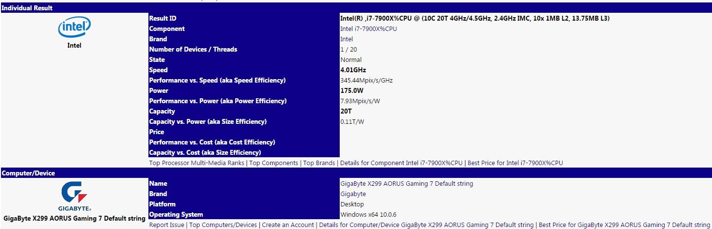Intel Skylake-X i9 7900X, se desvelan nuevos datos