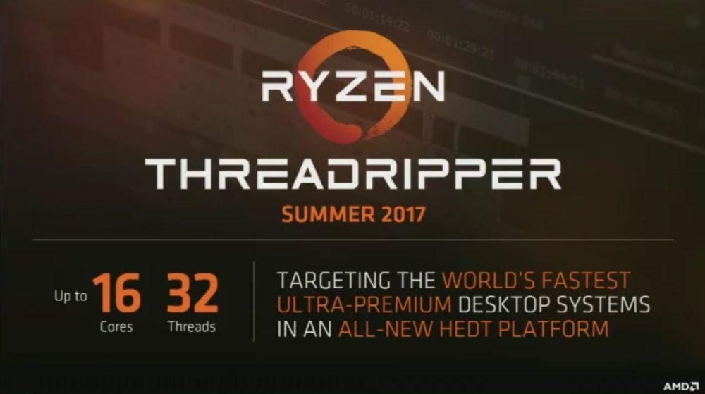 AMD presenta su plataforma Threadripper Ryzen HEDT con hasta 16 núcleos