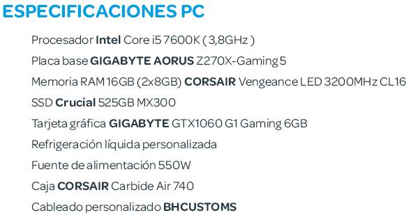 Especificaciones PC 3er Aniversario de Wipoid