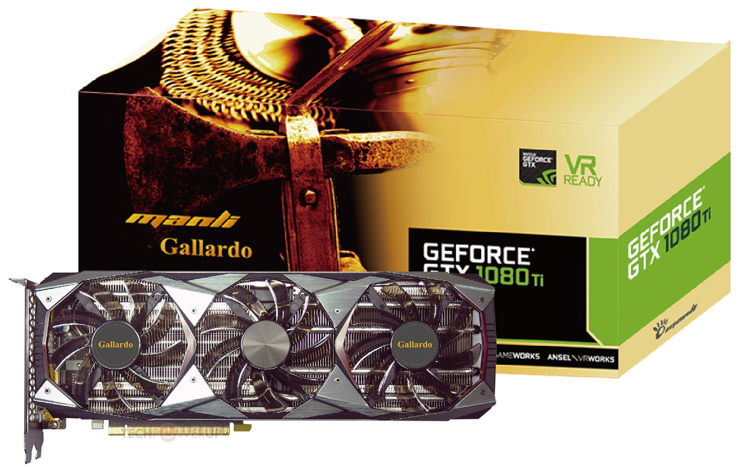 Manli presenta su monstruo GeForce GTX 1080 Ti Gallardo