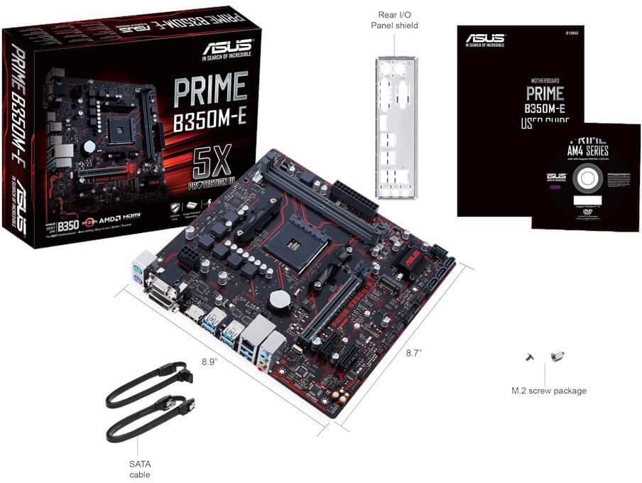 ASUS Prime B350M-E, nueva placa AM4 mictro-ATX