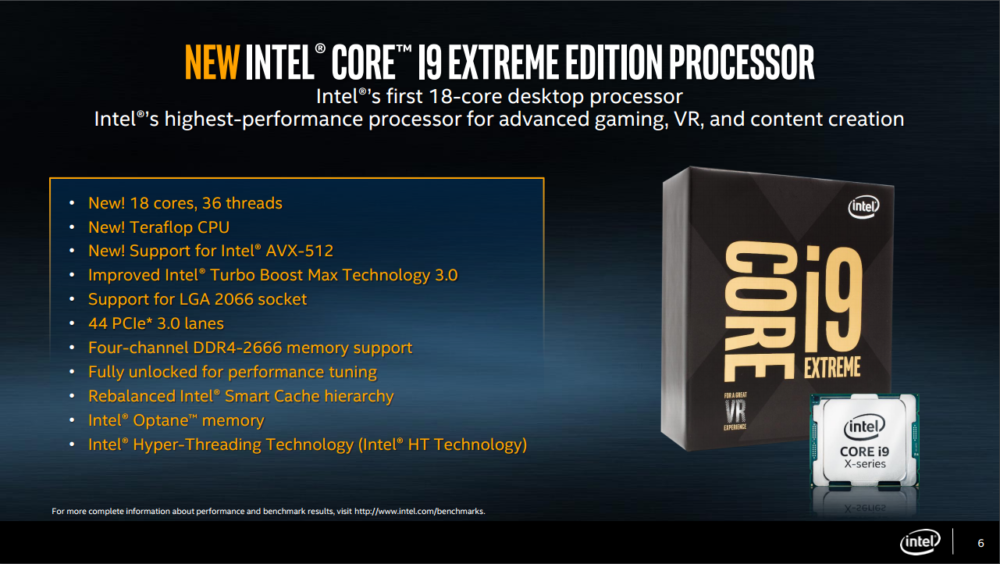Computex2017: Intel Core-X Series de hasta 18 núcleos por 2000USD