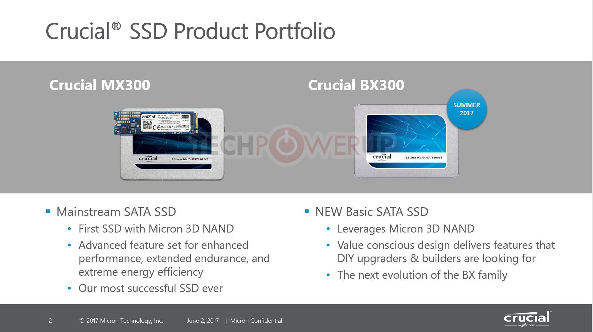 Computex2017: Crucial BX300 SSD en proceso