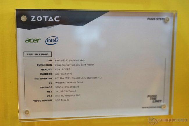 Computex2017: Zotac P1225 anunciado, un atractivo mini PC de bolsillo