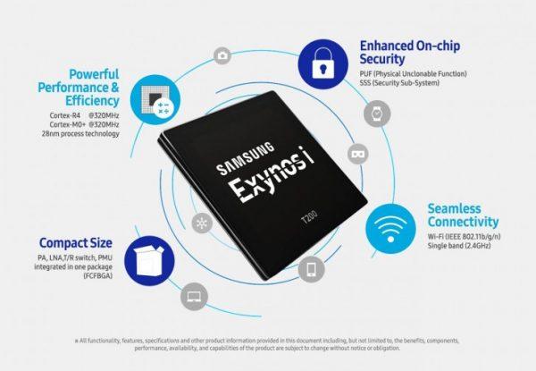 Samsung anuncia producción en masa del chipset Exynos i T200