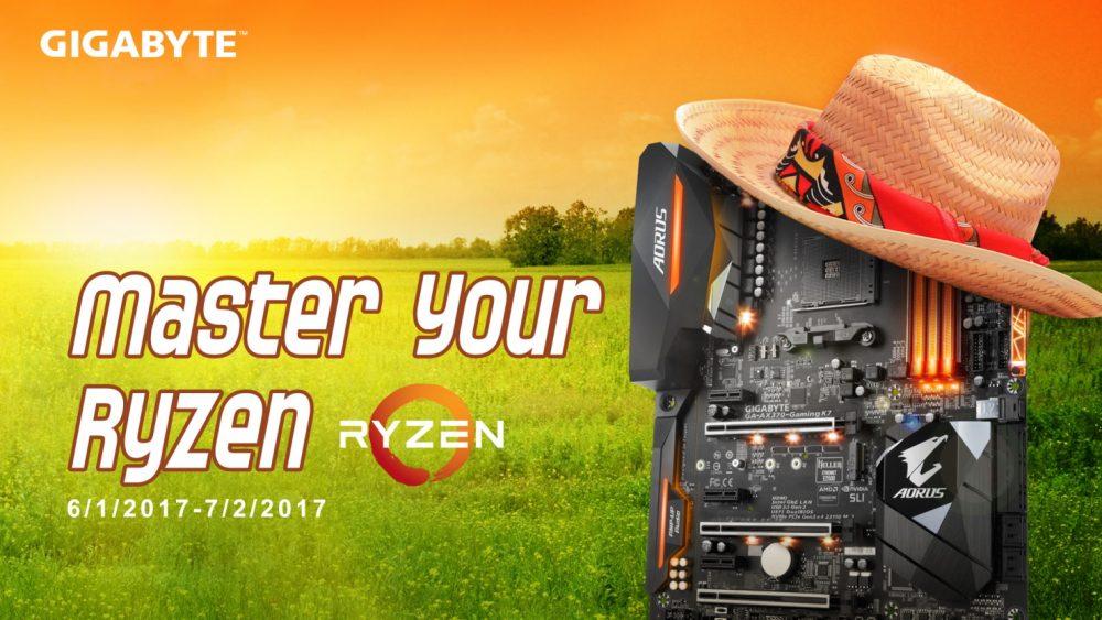 NP: GIGABYTE anuncia el Master Your Ryzen™ 2017 Cuarto torneo de Overclocking