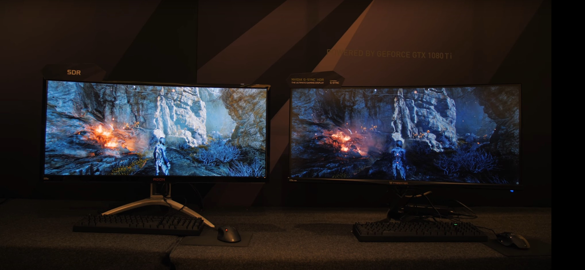 NVIDIA truca la imagen de un monitor SDR para destacar su tecnología HDR