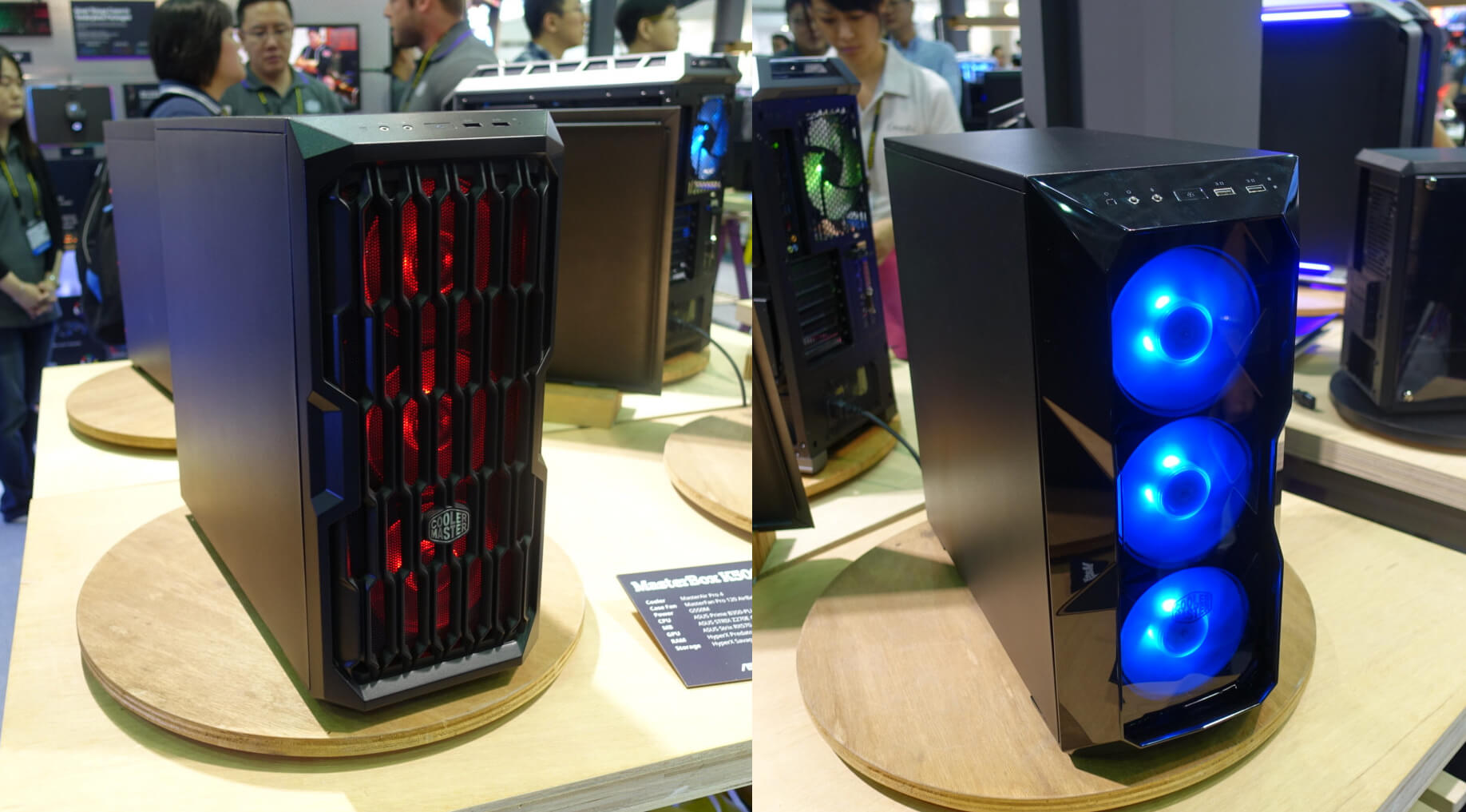 Dos modelos de CM MasterBox K500L