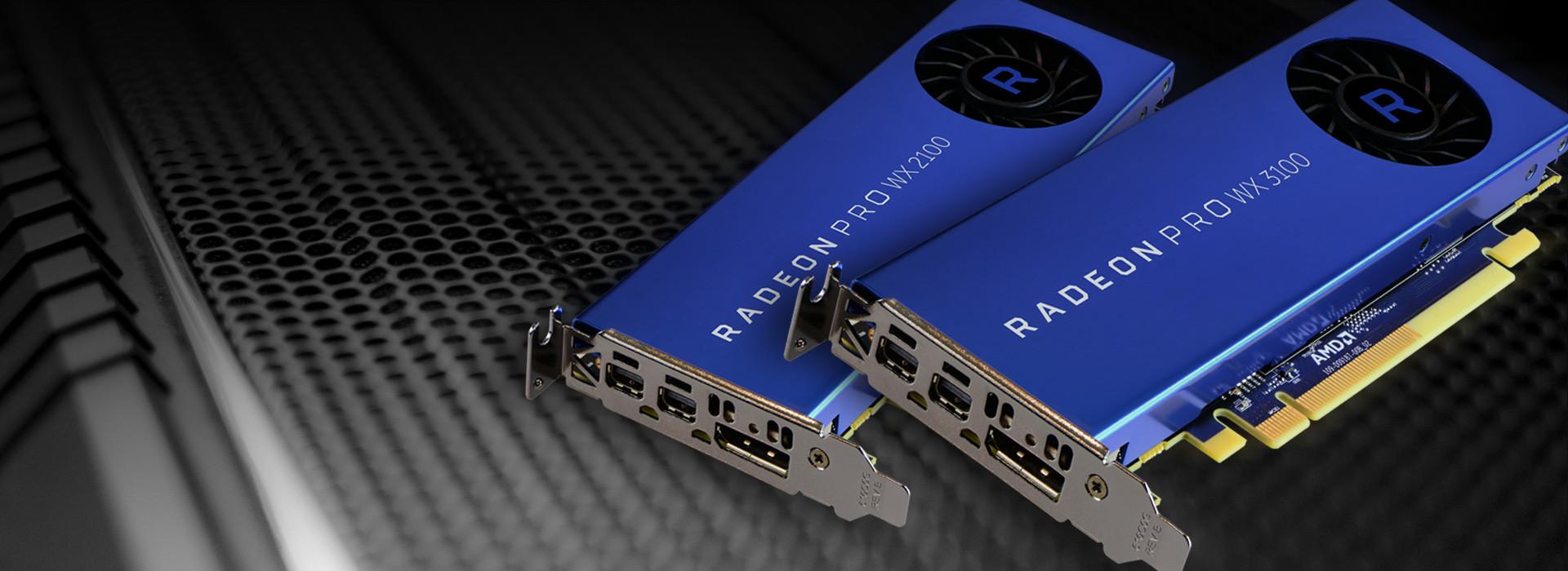 AMD Radeon Pro WX 2100 y WX 3100 para Workstations