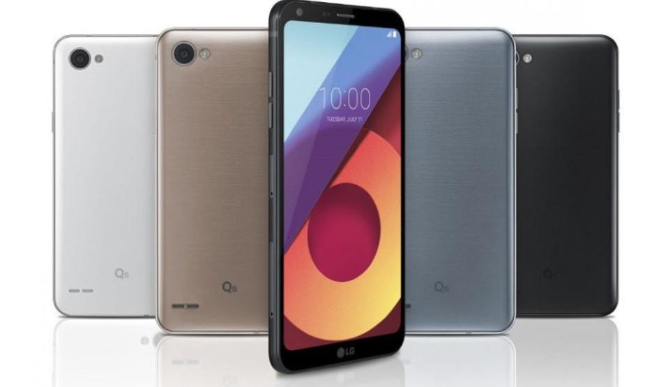 LG anuncia sus smartphones Q6, Q6a y Q6+