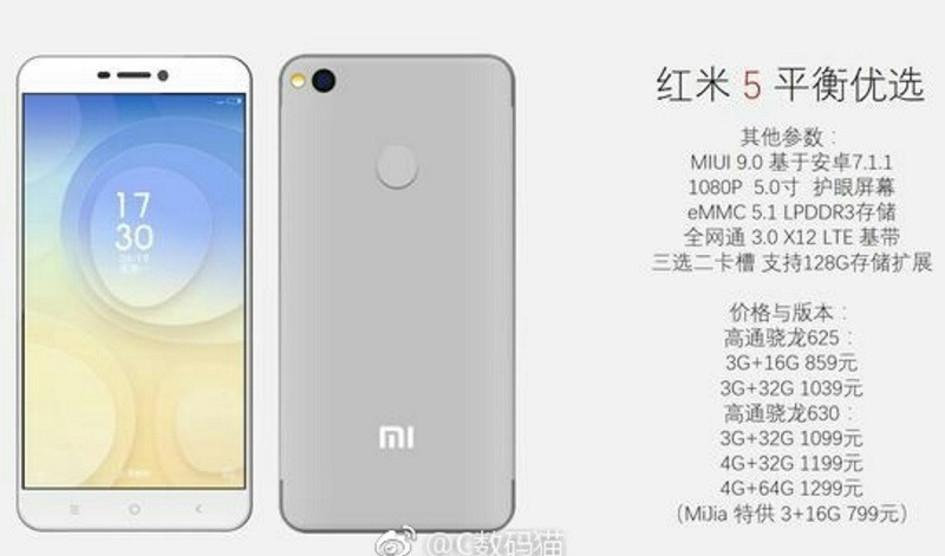 Xiaomi Redmi 5 aparece en escena revelando sus especificaciones