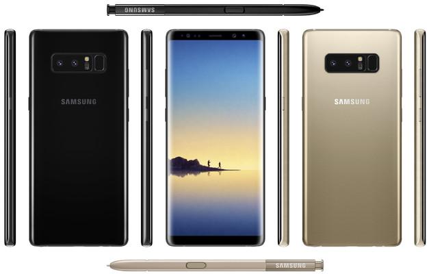 Samsung Galaxy Note 8 se muestra en todo su esplendor