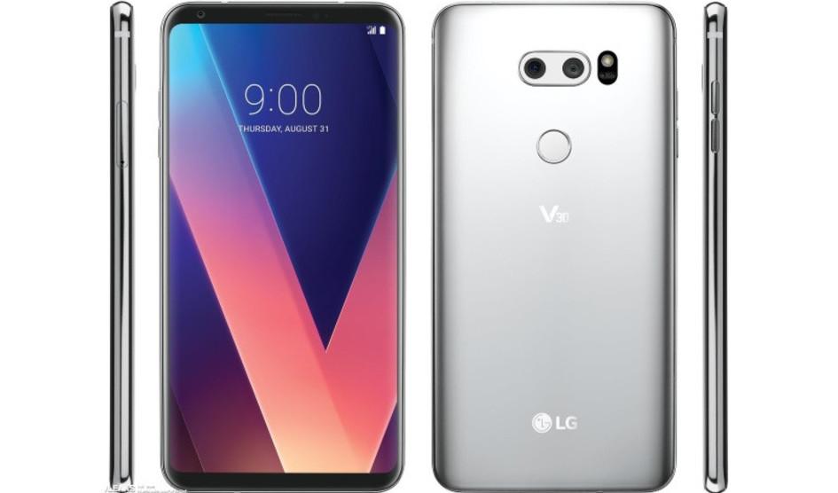 LG V30 desde todos los ángulos