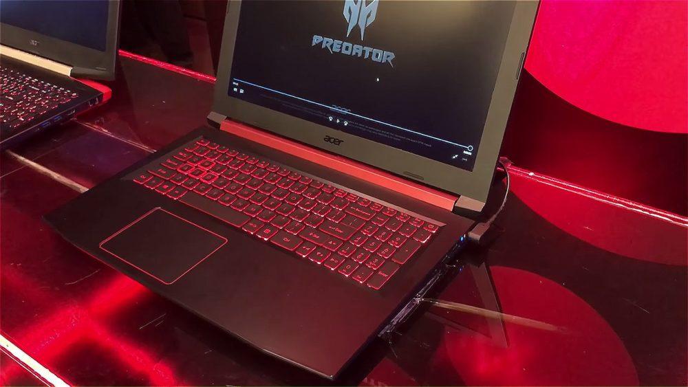 Intel Core i7 8550U avistado en un portátil Acer Nitro