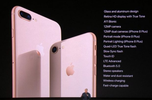 Apple anuncia iPhone 8 y 8 Plus con chipset A11 Bionic
