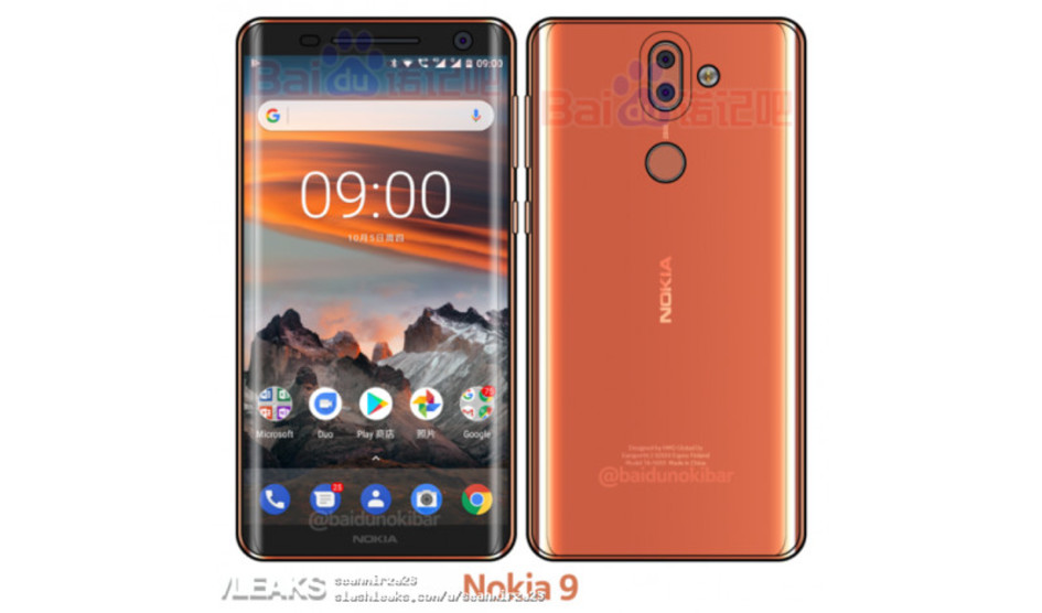 Nokia 9 revela pantalla curva y sensor de huella trasero