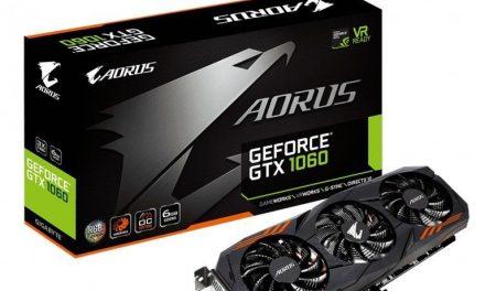 Gigabyte lanza AORUS GeForce GTX 1060 6G