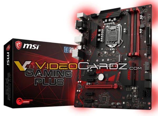 Placas base MSI Z370: imágenes y posibles precios