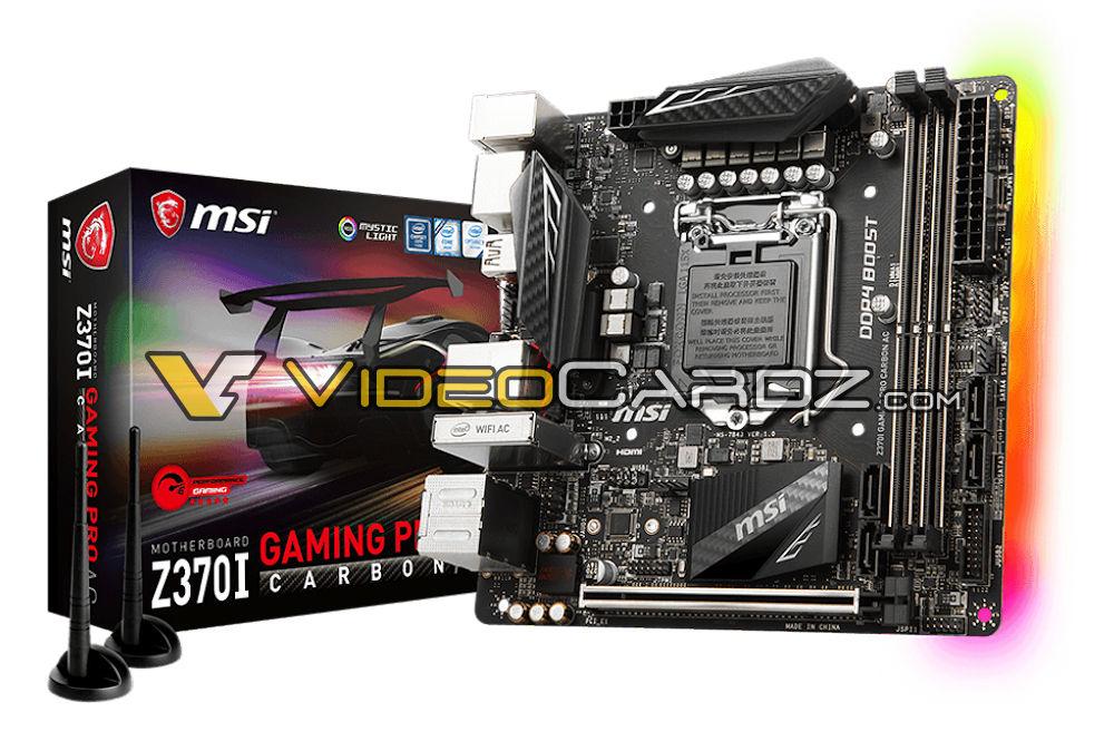 MSI Z370I Gaming Pro Carbon AC avistada