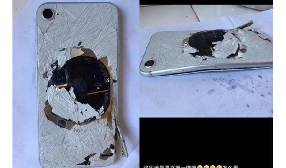 Primeras imágenes de un Iphone 8 explotado